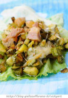Zucchine con pancetta e scamorza in padella vickyart arte in cucina