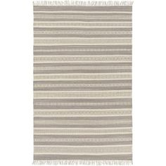 Surya LRY7003-810 Lawry 8' x 10' Rectangle Wool Hand Woven Transitional Area Rug - gray