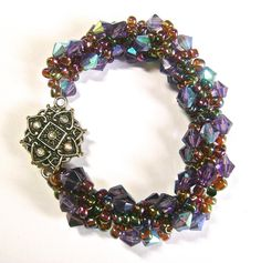 This gorgeous Grape Woven Spiral Bracelet is easier to make than it looks.