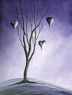 Purple Painting - Tree Of Everlasting Promises By Shawna Erback by Artisan Parlour Prophetic Art, Angel Art, Whimsical Art, Art Pages, Pretty Art, Beautiful Artwork, Love Art, Painting Inspiration, Bunt