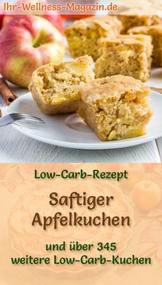 Schneller, saftiger Low Carb Apfelkuchen - Rezept ohne Zucker - Low Carb Kuchen Rezepte - Recipe for a juicy low carb apple pie: The low-carbohydrate cake is baked without sugar and corn flour. It is reduced in calories, … Low Carb Apple Pie Recipe, Apple Pie Recipes, Apple Desserts, Low Carb Sweets, Low Carb Desserts, Low Carb Recipes, Law Carb, No Sugar Foods, Paleo Dessert