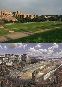 Circus Maximus, now and then (historical reconstriction art). – Cediena Van Zelst Circus Maximus, now and then (historical reconstriction art). Circus Maximus, now and then (historical reconstriction art). In Ancient Times, Ancient Rome, Ancient Greece, Ancient Aliens, Circus Maximus, Rome History, Ancient History, European History, American History