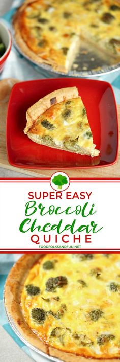 The best and easiest Broccoli Cheddar Quiche