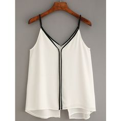 Designer Clothes, Shoes & Bags for Women Crop Top Outfits, Cute Casual Outfits, Chiffon Cami Tops, White Chiffon, Stylish Dress Designs, Mode Chic, Couture Tops, Minimal Fashion, I Dress
