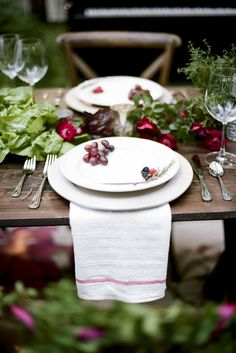 Wine-themed wedding tablescape at Wren's Nest, rentals by Southern Events, photo by Jenna Henderson