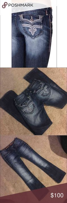 "ROCK REVIVALS Women's size 26 Inseam 30"" Posey Boot Like new - no flaws RETAILS FOR $169   CHEAPER ON MERC Rock Revival Jeans Boot Cut"