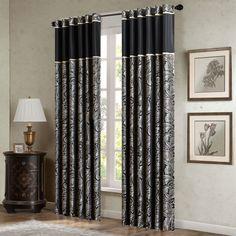 Pokanoket Paisley Blackout Rod Pocket Curtain Panels