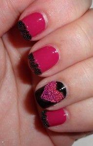uñas de moda color fiusha