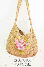 d9e52f285998 Maize Hutton: Crocheting With Raffia--A Messenger Bag Выкройки Сумки  Мессенджер, Вязаные