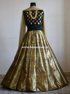 Here are some of the best shops in India from where you can buy Banarasi lehenga in nearly affordable price. Brocade Lehenga, Banarasi Lehenga, Brocade Dresses, Indian Lehenga, Anarkali, Kids Lehenga, Ghagra Choli, Pakistani Bridal Dresses, Pakistani Dress Design