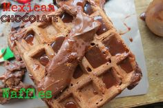 Mexican hot chocolate waffles #recipe