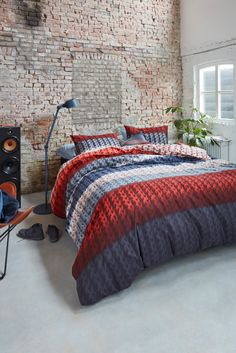 Bedding House quilt sets NELSON RED for cozy and nice bedroom.  For more products visit www.dekoera.com