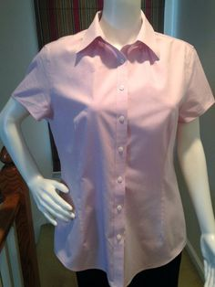 Brooks Brothers 346 Women's Tailored Fit Non-Iron Cap Sleeve Shirt Sz 12 #BrooksBrothers #ButtonDownShirt #Career