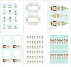 Postreadicción galletas decoradas, cupcakes y pops: Kits de fiesta gratuitos