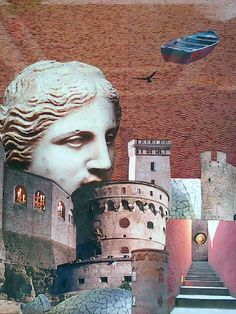 Ostrov Spinalonga 50 x 70 cm koláž author Jana Černochová Collage Art, Collages, Greece Painting, Bedding Inspiration, Confetti, Mount Rushmore, Author, Art, Writers