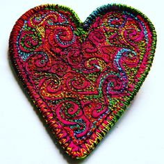 Stitched Heart Brooch £6.99