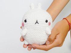 Amigurumi Stuffed Fat Rabbit Molang Plush by Sharrlaa