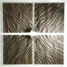 iamjapanese: Thierry Martenon(French, wood textured set of square wall sculptures Abstract Sculpture, Wood Sculpture, Bronze Sculpture, Thierry Martenon, Art Français, Sculptures Céramiques, Ceramic Wall Art, Texture Design, Wood Texture