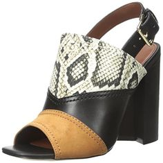 Cole Haan Women's Tabby High Sandal Dress Pump, Roccia Snake Canvas/Black Leather/Acorn Suede/Black, 11 B US - http://all-shoes-online.com/cole-haan/11-b-m-us-cole-haan-womens-tabby-high-sandal-dress
