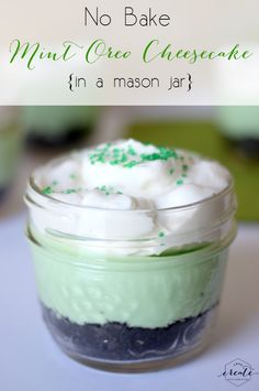 A quick and easy no bake recipe to serve friends and family! Perfect for St. Patrick's Day!