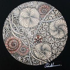 Zendala 071516. Welcome to visit my FB Page: http://www.facebook.com/Rebecca.Zentanglebox #zendala #mandala #mandalala #zendoodle #zentangle #tangle #doodle #doodleart #art #artwork #draw #drawing #sketch #sketchbook #tantiles #mandalalove #mandalaartist #mandalaart #mandalapassion #mandala_sharing #beautiful_mandalas #zentangleart #zentangleinspiration #learnzentangle #zenart #hearttangles
