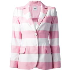 Pink and white stripes Striped Jacket, Striped Blazer, Pink Jacket, Blazer Jacket, Good Brands, Pink And White Stripes, Boutique Moschino, My Style, Pink Blazers