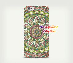 Colorful Mandala Clear Phone Case for iPhone 6 6s by MessageCard