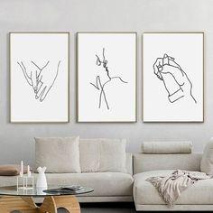 Love Art 3 Set Print Holding Hands Kiss Poster Hands Line Art Digital Prints Line Drawing Couple Wall Art Romantic Art Cute Prints Girl Art Hand Lines, Modern Wall Decor, Home Decor Wall Art, Hand Art, Line Drawing, Drawing Hands, Manga Drawing, Drawing Tips, Minimalist Art