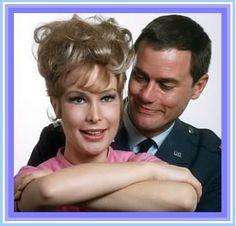 "Barbara Eden, Larry Hagman.  ""I Dream of Jeannie"""