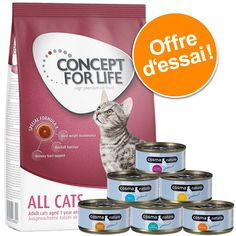 Animalerie  Lot 400 g Concept for Life  6 x 70 g Cosma Nature pour chat  All Cats  Cosma Nature