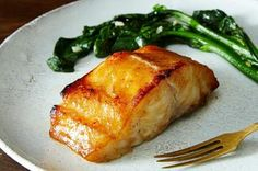 Miso Black Cod Recipe on (Paleo Recipes Seafood) Cod Fish Recipes, Grilled Fish Recipes, Seafood Recipes, Asian Recipes, Cooking Recipes, Healthy Recipes, Cooking Fish, Pear Recipes, Japanese Recipes