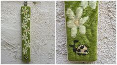 60's 70's Needlepoint Flower Ladybug Wall Hanging Fiber Art Needlework by ElkHugsVintage on Etsy