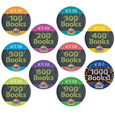 1,000 Books Before Kindergarten Milestone Stickers