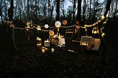 lighted lanterns
