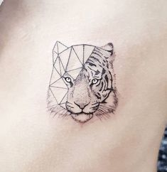 #Tattoo of a tiger geometrically minimalistic tattoo