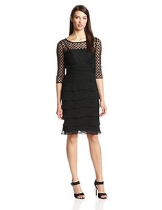 $84 Jessica Howard Women's 3/4 Sleeve Illusion Artichoke Skirt Dress, Black, 10 Petite Jessica Howard http://www.amazon.com/dp/B00MWLFWU8/ref=cm_sw_r_pi_dp_rTL5vb00MESHJ