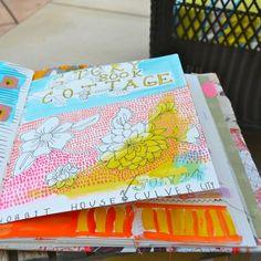 Ideas and inspiration for keeping an art journal, sketchbook, scrapbook or travel journal