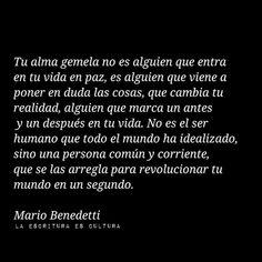 Mario Benedetti y el alma gemela