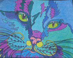 a kitty i knew that i drew...colored pencil ..Lynda McGovern