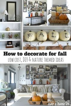 how to decorate for fall. Amazing DIY and rustic fall home tour! Fall season is officially upon us, this fall home tour is full of low cost, and DIY decor ideas. Really good tips on how to blend seasonal decor with existing decor, keeping it simple and casual to decorate your home!