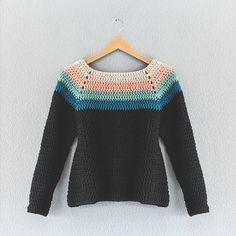 Ravelry: crochet long-sleeved top Lehandmade's Primer Reto finde y principio de semana: el jersey