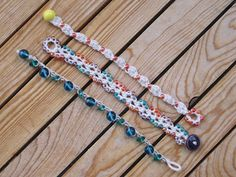 crocheted bead bracelet