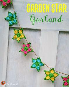 The Garden Star Garland - free pattern from The little bee http://www.ravelry.com/patterns/library/garden-star-garland