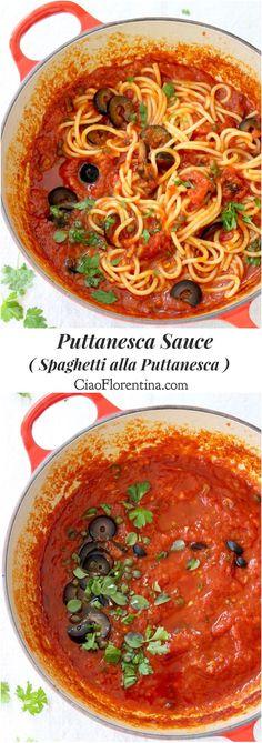Puttanesca Sauce Recipe or Suggo alla Puttanesca ( Spaghetti alla Puttanesca) | CiaoFlorentina.com @CiaoFlorentina