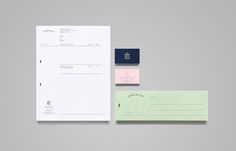 Documents with pastel coloured paper and gold foil detail designed by Anagrama for event panner Checklist