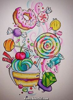 ideas for drawing skull fantasy awesome - Backgrounds - Kawaii Drawings, Colorful Drawings, Easy Drawings, Tattoo Drawings, Disney Drawings, Sweet Drawings, Pencil Drawings, Marker Kunst, Marker Art