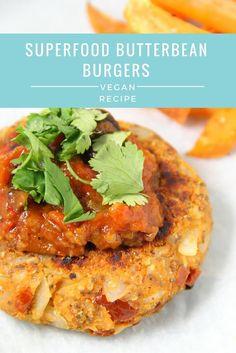 Superfood Butterbean Burgers | Vegan, Gluten-free http://natalietamara.co.uk/2016/01/25/superfood-butterbean-burgers/