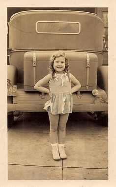 Innocent beauty by sctatepdx, via Flickr,   The license plate says 1932.