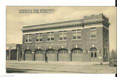 Vintage Tomlin Postcard w/Real Photo Hicksville Fire Department Long Island NY #brooklyn