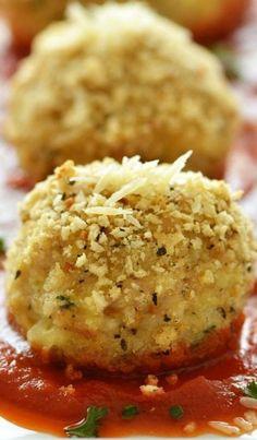 Chicken Parmesan Stuffed Meatballs
